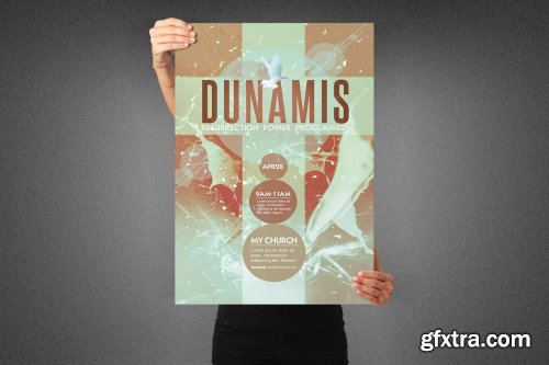 CreativeMarket - Dunamis Church Poster Template 3991841
