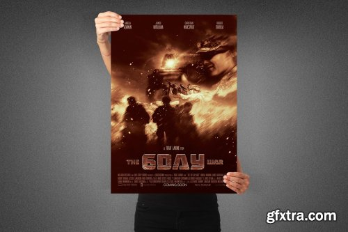 CreativeMarket - Six Day War Movie Poster Template 3990724