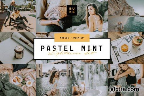 CreativeMarket - Pastel Mint 4 Lightroom Preset Pack 3957670