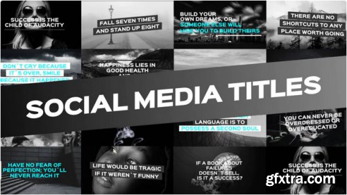 Social Media Titles - After Effects 275353