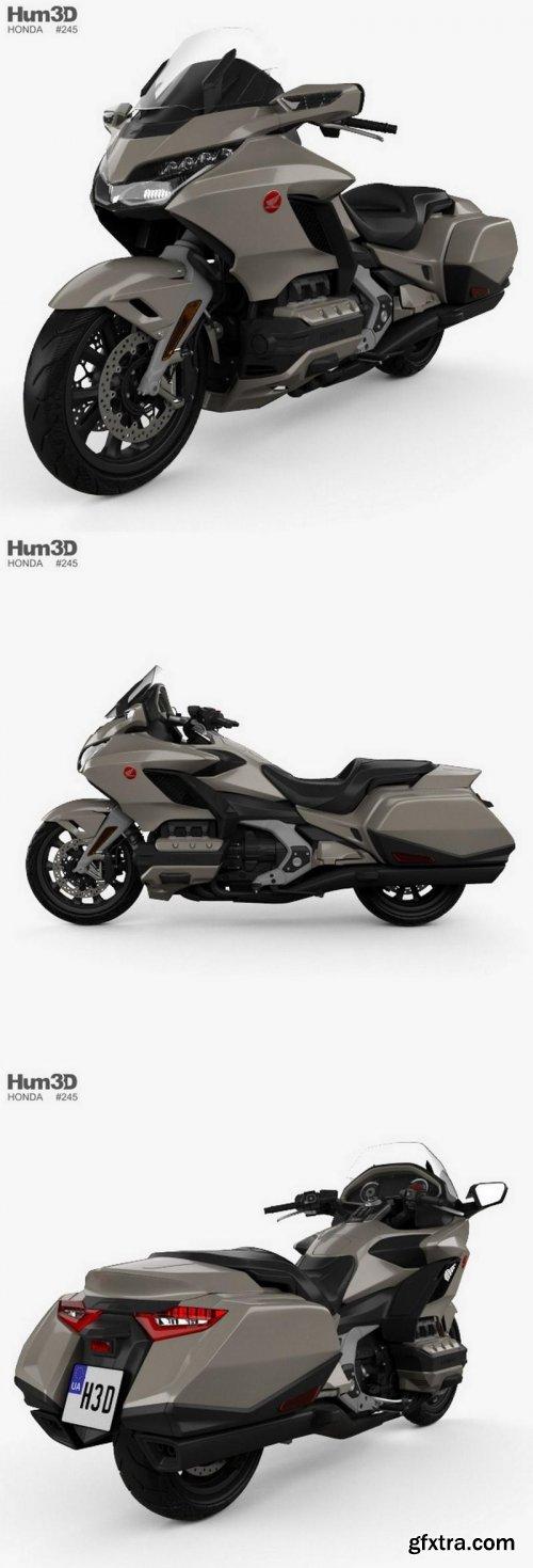 Honda GL 1800 Gold Wing 2018 3D Model