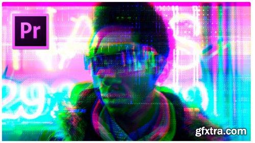 Cyberpunk Glitch Transition - Premiere Pro Templates 275904