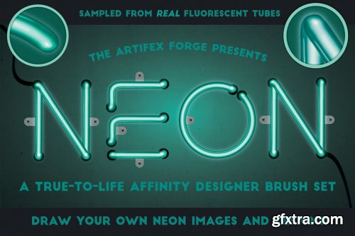 CreativeMarket - Neon Affinity Brushes 4019199