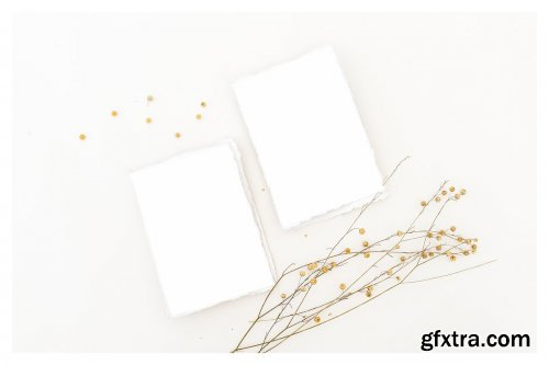 CreativeMarket - Wildflowers Cards Mockup 4046266