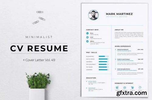 Minimalist CV Resume Vol. 49