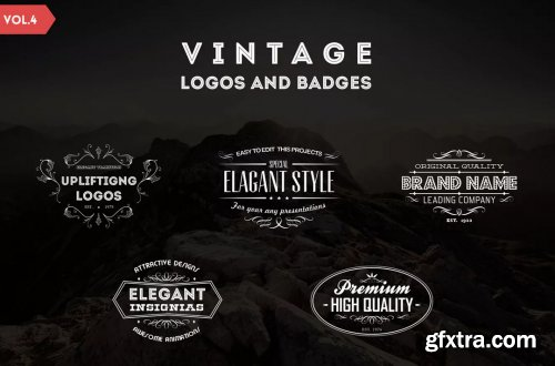 Vintage Logos and Badges Template - Vol.4