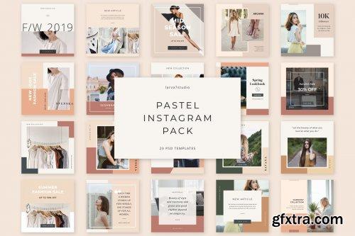 CreativeMarket - Pastel Instagram Pack 4018852
