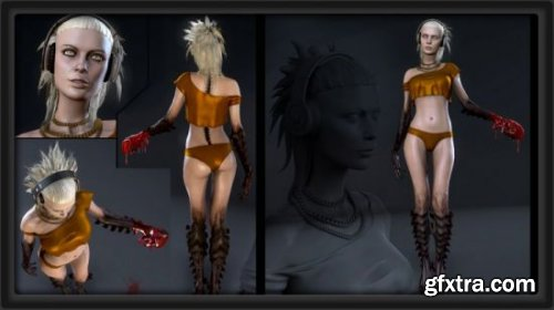 Model & Texture a complete Female Character for Games