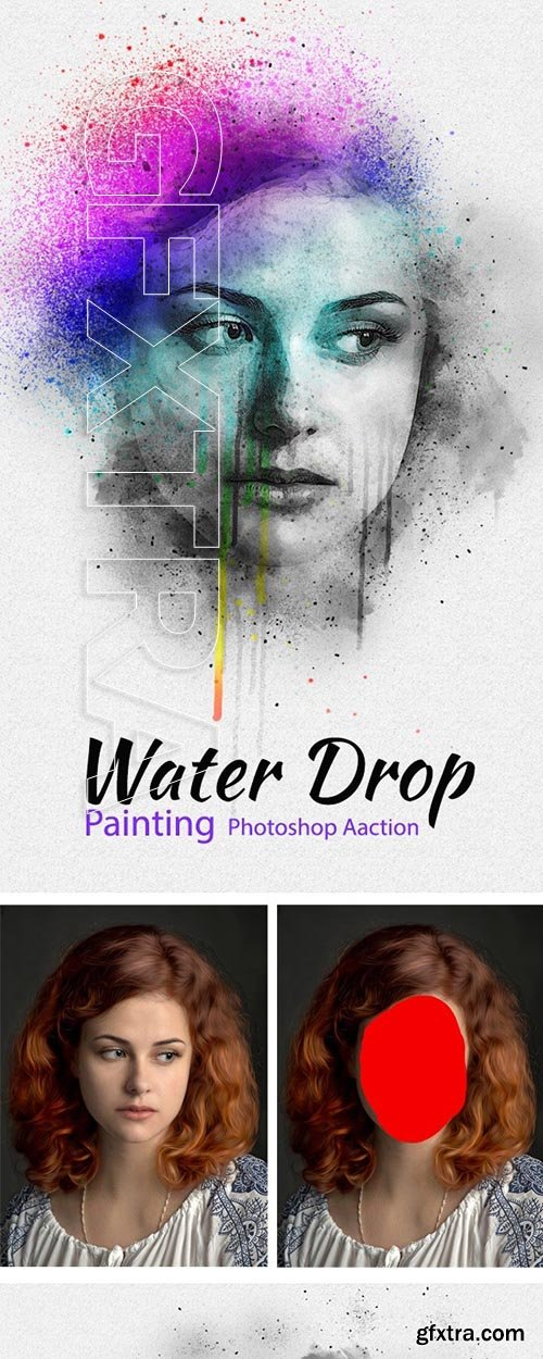 GraphicRiver - Water Drop Painting Photoshop Action 24414311
