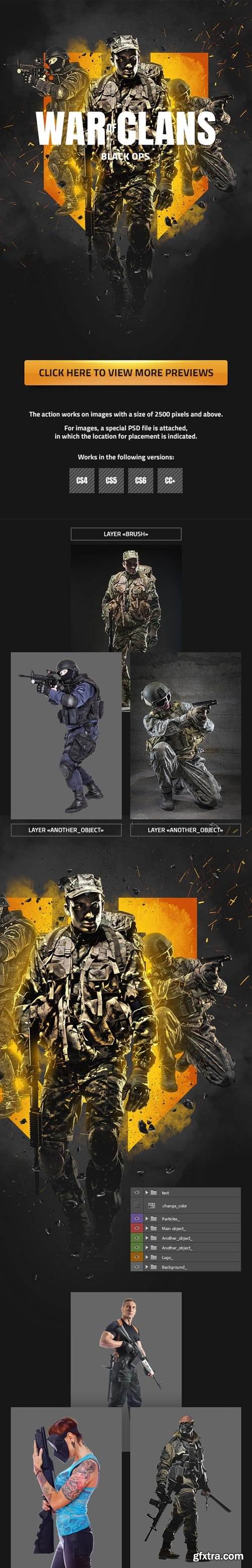 GraphicRiver - War Of Clans Photoshop Action - 22778606