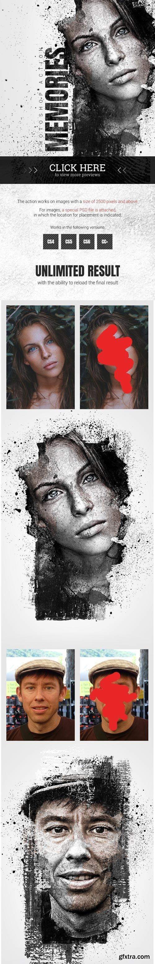 GraphicRiver - Memories Photoshop Action - 22811596