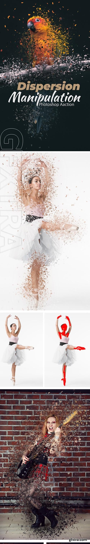 GraphicRiver - Dispersion Manipulation Photoshop Action 24297881