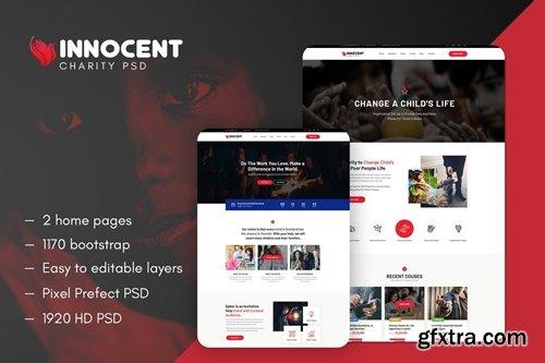 Innocent - Nonprofits Charity PSD Template