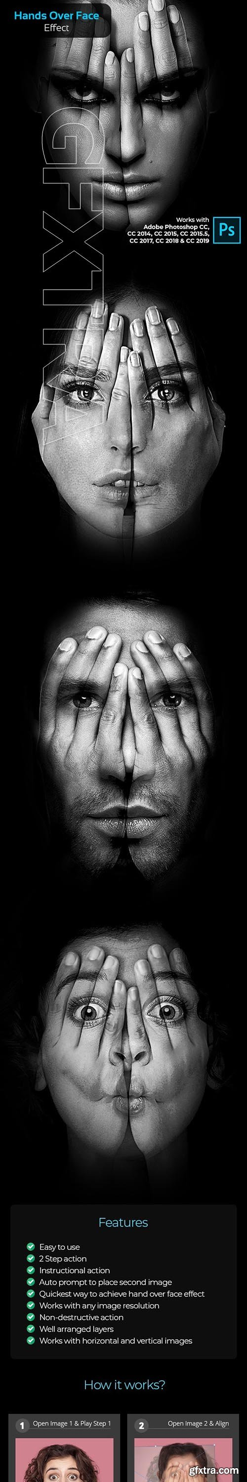 GraphicRiver - Hands Over Face Effect - Photoshop Action 24320482