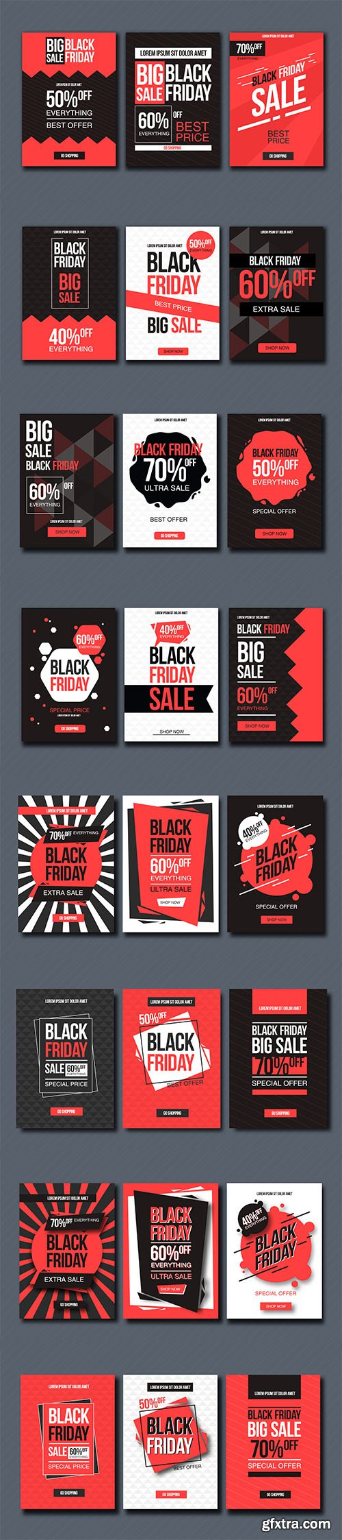 Black Friday Sale Design Template Set