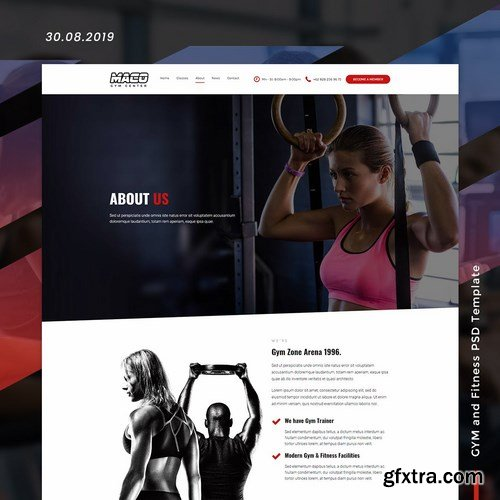 Maco Gym and Fitness PSD Template