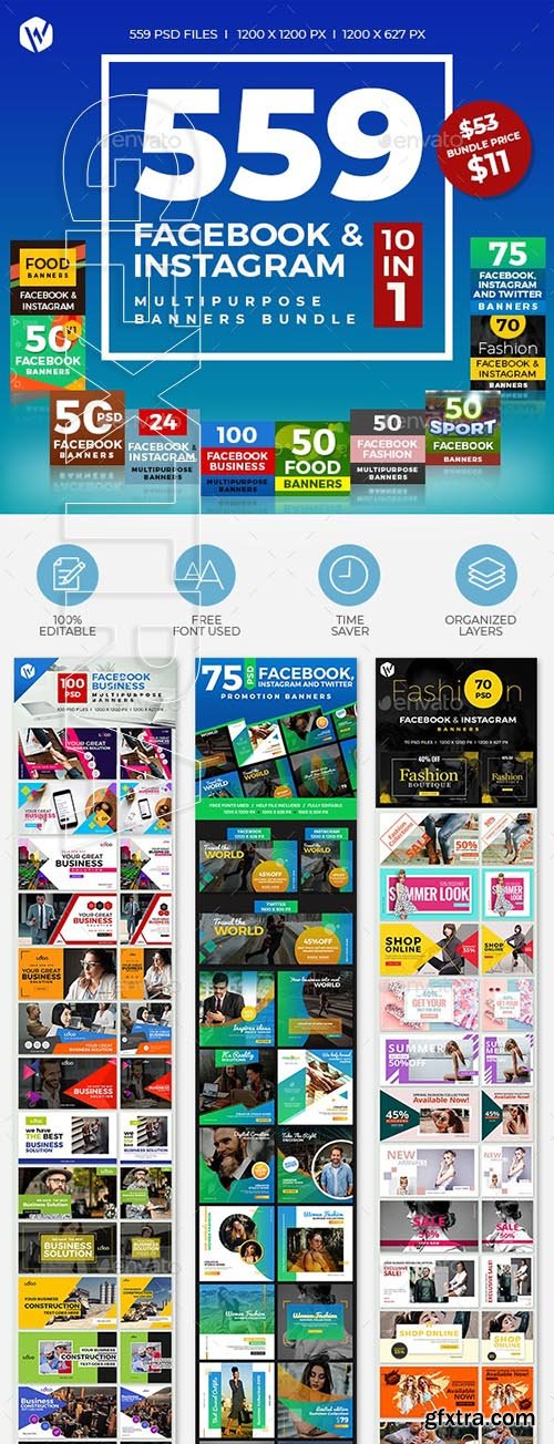 GraphicRiver - 559 Facebook & Instagram Banner Bundle 24332880