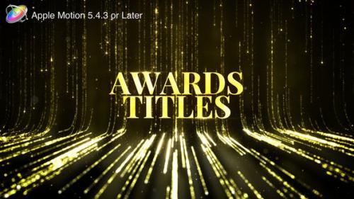 Udemy - Awards Titles - Apple Motion