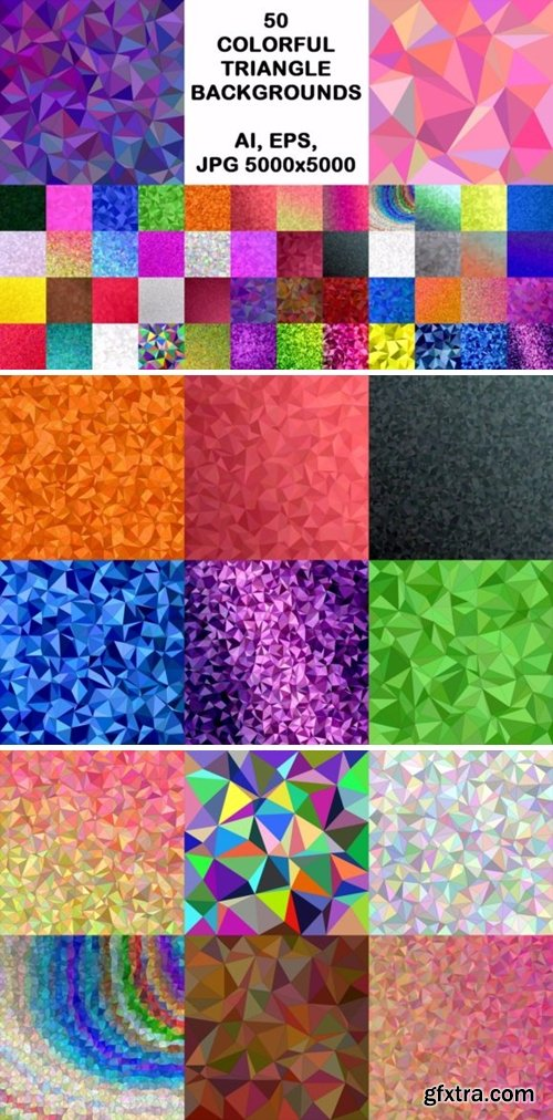 50 Colorful Triangle Backgrounds 1748650