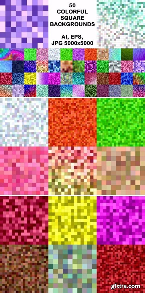 50 Colorful Square Backgrounds 1748651