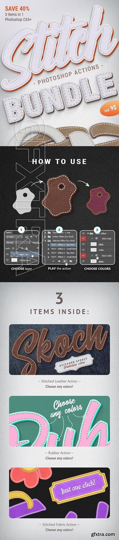 GraphicRiver - Stitched Actions Bundle 24494393