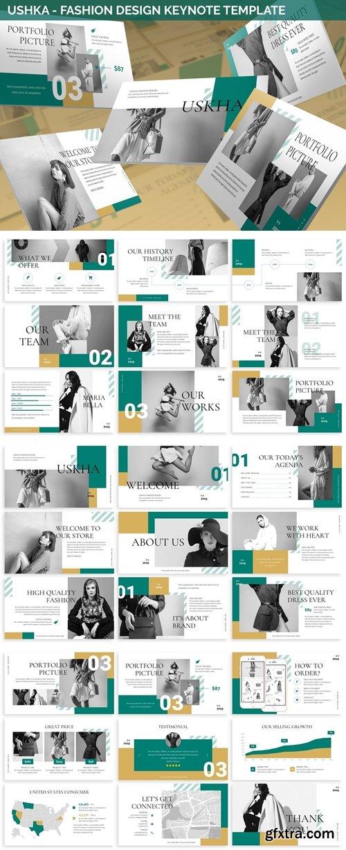 Ushka - Fashion Design Keynote Template