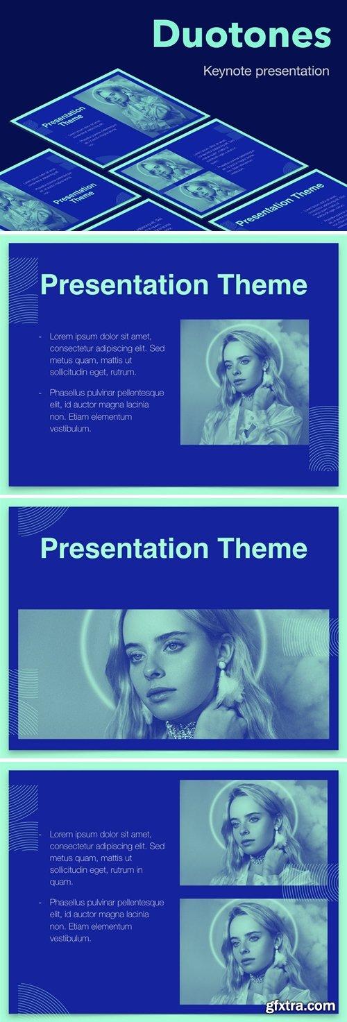 Duotones Keynote Theme