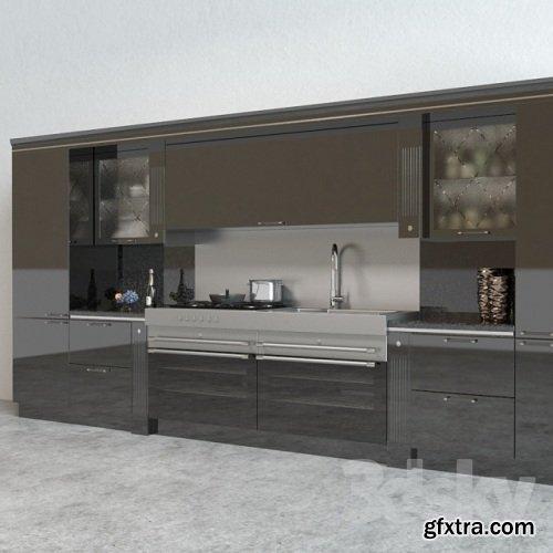 Scavolini Baccarat Kitchen Black
