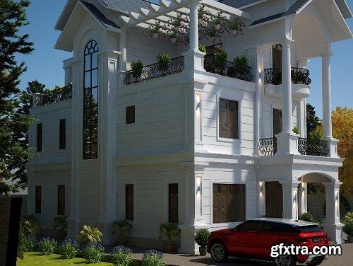 Villa Exterior Scene 04