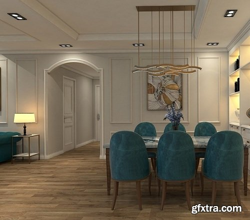 Interior Apartment Scene Sketchup By Duy An