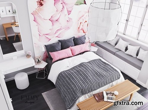 Interior Bedroom Scene Sketchup By MyHuynh