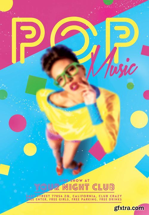 Pop music - Premium flyer psd template