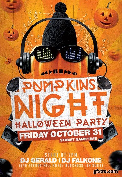 Pumpkin night - Premium flyer psd template
