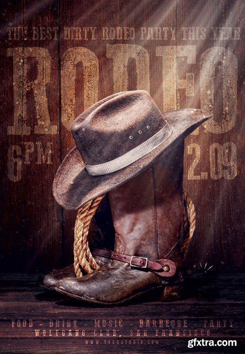 Rodeo night - Premium flyer psd template