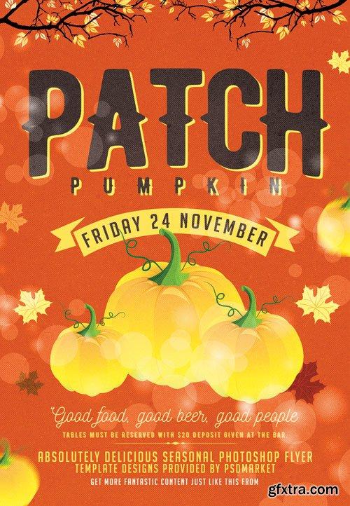 Pumpkin patch - Premium flyer psd template