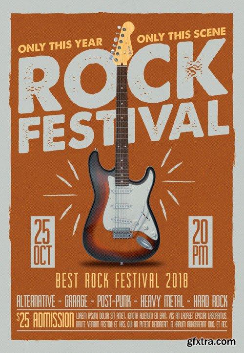 Rock fest - Premium flyer psd template
