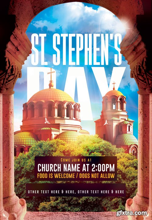 St stephens day - Premium flyer psd template