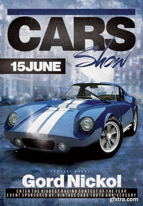 Stance car show - Premium flyer psd template