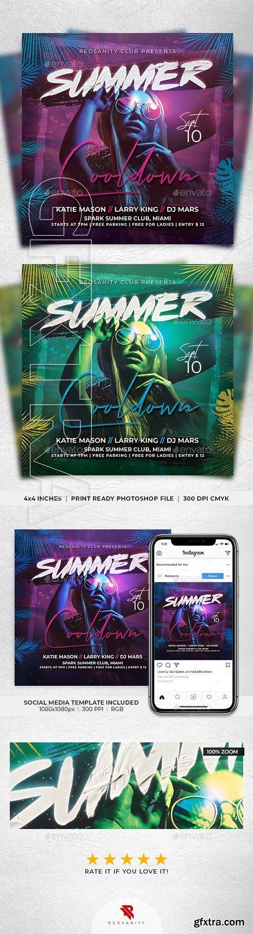 GraphicRiver - Summer Cooldown Flyer 24523463