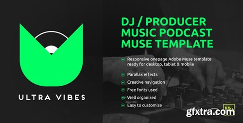 ThemeForest - Ultra Vibes v1.0 - DJ / Producer Podcast Muse Template (Update: 21 March 15) - 10491353