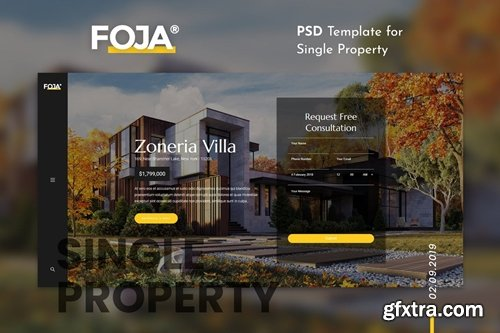 Foja | Single Property PSD Template