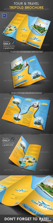 GraphicRiver - Tour & Travel Trifold Brochure 8610213