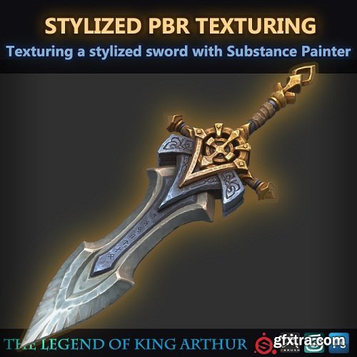 Texturing a stylized sword with Substance Painter (Stylized PBR)