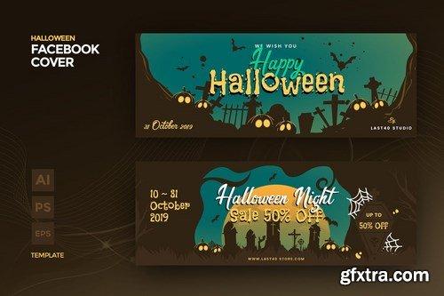 Halloween Facebook Cover & Banner Template