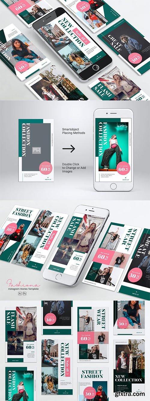 Urban Fashion Instagram Stories PSD & AI Template