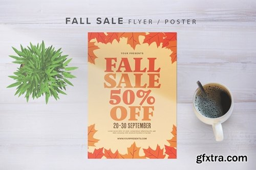 Fall Sale With Graphic Leaf