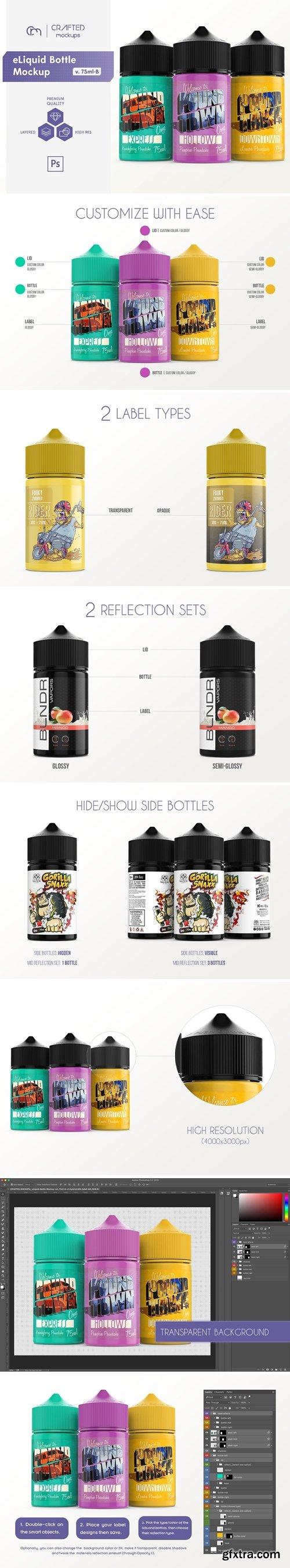 CM - eLiquid Bottle Mockup v. 75ml-B 4088547