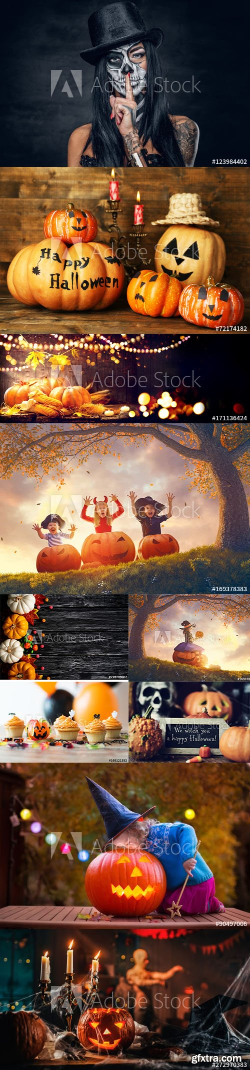Set of Halloween Background vol3