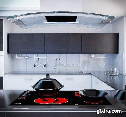 Kitchen Vray Interior 3d Model