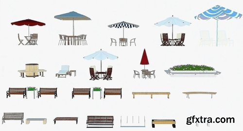 Cgtrader - Outdoor Architecture Item Pack 3D model
